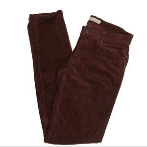 Ann Taylor LOFT Maroon Crimson Modern Skinny Pants